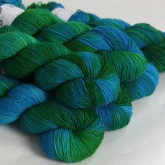 Twist sock (Hedgehog Fibres) Tags: blue wool wearing socks high sock hand hard twist yarn faced sturdy dyed bfl handdyed nulon hardwearing laicester