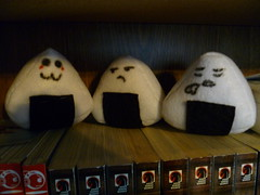Handmade Onigiri 5$ (LadyZen19) Tags: cute ball happy sad rice sale tired onigiri emotional sell selling riceball buttery