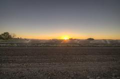 Farm in the desert - Hollister California (2sheldn) Tags: california old sunset sky orange sun barn canon desert farm allrightsreserved hollister 550d t2i sheldn copyrightdanielsheldon sheldnart