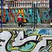 Graffittaro al lavoro nel barro La Candelaria