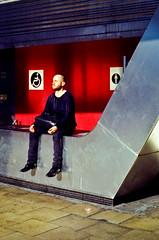 Vauxhall Nirvana (forayinto35mm) Tags: london film 35mm 50mm iso100 peace pentax kodak calm rushhour meditation pentaxmesuper toilets vauxhall c41 kodakektar100 ektar100 manmeditating manmeditatingoutsidetoilets