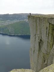 On the edge (Frans.Sellies) Tags: norway geotagged norge norwegen noruega pulpit norvegia preikestolen pulpitrock noorwegen noreg norvge  norwegia      p1030749 geo:lat=589852063 geo:lon=6184293000000025 flickr7968867902