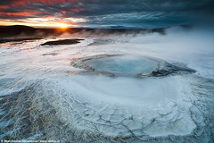 Geothermal activity in Hveravellir, central highlands of Iceland (skarpi - www.skarpi.is) Tags: travel blue summer sky sun hot green pool sunrise landscape island iceland highlands dynamic earth extreme central silk blowing blow steam highland hut aurora tub kofi traveling burst scape hotspring geo geothermal geysir cosy sland auroraborealis borealis hiti skyskape centralhighlands hveravellir kjlur hver kerlingarfjll dynamik northenlights bstaur kjolur kjalvegur nakedearth hlendi hlendi kerlingarfjoll hverasvi skarpi extremesky jarhiti jarvarmi visipix steamblow traveliceland skarphinnrinsson blowinggeysir centralhighlandsiceland kskvld hveravllum dynamiksky