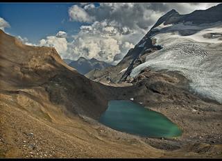 Monte Leone (3557m ) and the Chaltwassersee (2756 m )Switzerland / Italy . No. 69833.