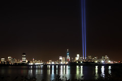 The 2012 Tribute In Light (gimmeocean) Tags: nyc newyorkcity newyork newjersey manhattan 911 nj tributeinlight libertystatepark freedomtower johnsammartino 1wtc oneworldtradecenter