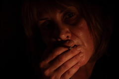 NEL BUIO DELLA NOTTE (donatadag) Tags: portrait orange canon dark photo cigarette smoke explore flickrclickx