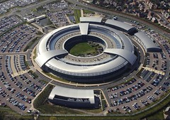 GCHQ Building at Cheltenham, Britain