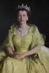 Her Majesty the Queen Elizabeth II (akwan.architect) Tags: portrait house painting australia parliament 1954 oil canberra artcollection queenelizabethii hermajesty sirwilliamdargie