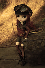 The adventurer (Amarie Photography ) Tags: brown leather sepia bronze eos outfit doll body handmade stock steam planning boutique groove pullip dolly limited edition jun marian bronce steampunk mueca muneca obitsu ayrin