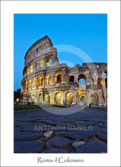 Roma, il Colosseo (17757) (Danilo Antonini (Pescarese)) Tags: road street old city travel blue italy holiday rome roma history tourism monument architecture canon eos town twilight ancient strada italia roman blu monumento centro amphitheatre arches unesco colosseum romano via hour flavio bluehour ora avenue turismo antico viaggio architettura touring vacanza romana eternal lazio turisti citt fori colosseo imperiali anfiteatro archi mondo crepuscolo storico storia patrimonio eterna impero meraviglia umanit orablu citteterna imbrunire canonef24105f4lisusm pescarese patrimoniodellumanitunesco canoneos5dmark2 settemeravigliedelmondo