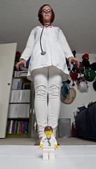 Day 2066 (evaxebra) Tags: white giant glasses big lego mini doctor 365 bingo stethoscope minime wh 365days evaxebra flickrbingoo72