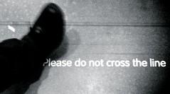 Please Do Not Cross The Line (amfawcett) Tags: sign warning foot cross floor line