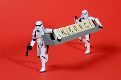 Th Force 274/366 ([inFocus]) Tags: umbrella canon table toy toys starwars year letters creative plastic scrabble 7d stormtrooper 365 softbox tabletop 2012 lastolite 366 24105mm strobist ezybox project366 scrabblesunday
