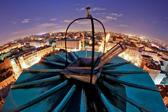 ((marc)) Tags: tower rooftop climb clocktower fisheye montrouge
