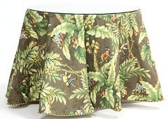 5. Tropical Upholstery Decorator Table