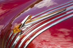 Pontiac (Jon Matthies) Tags: auto show red arizona sky cloud abstract reflection classic cars car metal route66 jon paint antique convertible az automotive 66 days route ornament chrome flagstaff hotrod hood pontiac custom 52 1952 coconino matthies tetreault