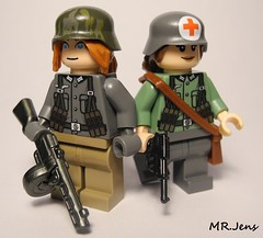 German Infantry Eastern Front WWII LEGO (MR. Jens) Tags: world walter two girl female germany soldier war lego russia wwii front soldiers l custom eastern weapons p38 ppsh brickarms brickarmy eclipsegrafx