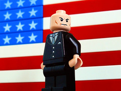 Lex Luthor for President (Oky - Space Ranger) Tags: america for dc lego flag president super superman heroes universe lex obama debate 2012 romney luthor
