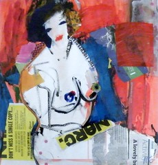 Teodora, constructed female (PaulHelen2009) Tags: life woman abstract art collage female painting nude artwork artist drawing fine study helen expressionist watercolour colourful matisse gorrill