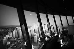 (sparth) Tags: seattle leica blackandwhite bw tower blackwhite washington downtown view wa spaceneedle washingtonstate rhythm 2012 noirblanc downtownseattle m9 leicam9