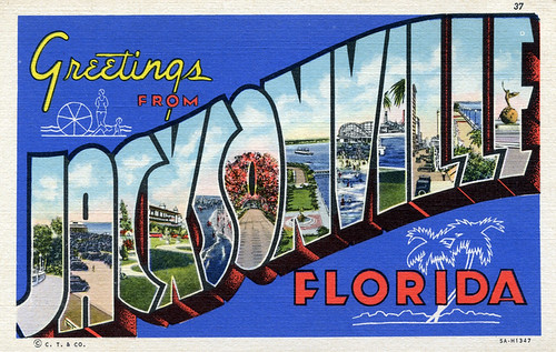 Greetings from Jacksonville, Florida - Large Letter Postcard