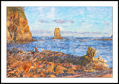 La Push Beach01 - Painting (Paddrick) Tags: art painting tablet wacom paddrick ditial twistedbrush paintograph