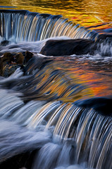 Liquid Autumn (baldwinm16) Tags: autumn fall nature up mi waterfall fallcolor michigan september upperpeninsula bondfalls ontonagoncounty ontonagonriver omot bondfallsscenicsite