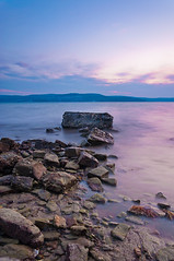 Sunset rocks (Alja Vidmar | ADesign Studio) Tags: longexposure light sea nature clouds landscape nikon slovenia sherpa goldenhour 200r cokin velbon gradual ndfilter gnd cokingnd d5000 nd8x blinkagain