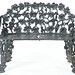 67. Victorian Iron Grape Vine Settee
