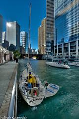 Inclined To Wait.jpg (Milosh Kosanovich) Tags: chicago bridges chicagoriver sailboats hdr chicagoist d700 bridgelifts nikon1424f28