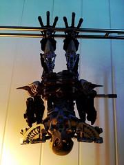 Lego Technic Bat-Robot (9) (RamblingCatastrophe) Tags: black lamp silver pose robot lego bat technic bionicle