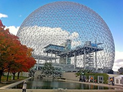 biosphere (Mr.  Mark) Tags: nature museum architecture modern photo natural montreal stock biosphere sphere dome pavilion worldfair expo67 markboucher îlesaintehélèneisland