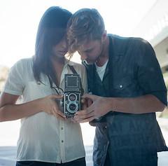 J. Kim and M. Self (James Fitzgerald III) Tags: love tlr film window oregon rolleiflex mediumformat portland kodak walkaround rolleiflex35mxevs