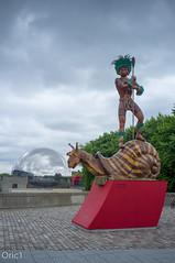 Paris - La Villette - Canal de l'Ourcq (Oric1) Tags: xxxi olympiad jo rio olympique olympics games summer paris samba 2016 danse ourcq canal la villette fuji x100 statue totem cole school dance summergames