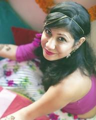 Sharon. (Divya Shivaram) Tags: beautiful portraits canon bride mehendi prettiness parsi brazindian
