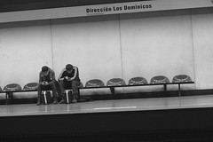 Metro (Mar Cifuentes) Tags: chile blancoynegro subway metro ciudad subte urbana bnw santiagodechile streetphotographer