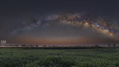 Random fields of Cholistan and the arch of milky way (Usman miSki) Tags: green landscape milkyway sky beautiful galaxy