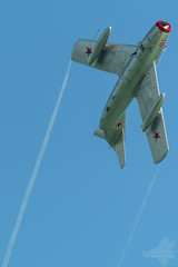 Mikoyan-Gurevich MiG-15UTi, Red 18 (Michael Hallam Plane & Simple Photography) Tags: mig15 mikoyangurevich red18 mig airbourne2016 eastbourne airshow aviation ukairshow seaside nikon d7100 sigma 150600