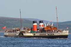 PS Waverley (Fraser Murdoch) Tags: paddle steamer ps waverley tarbert loch fyne kyles bute isle river clyde glasgow built ship vessel scotland landscape summer canon eos 650d nostalgia fraser murdoch transport photography blue sky water largs
