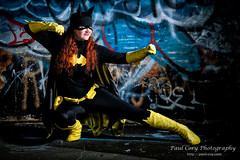 Batgirl at the Ready (Paul Cory) Tags: 36inchparabolicoctabox allisonlynnfinch batgirl camera city colorefexpro4 congregate congregate2016 cosplayer costume dccomics fromcamerajpeg fujicamera fujilens fujifilmxpro2 fujifilmxf50140mmf28rlmoiswr godoxft16 graffiti gridspot highpoint honl18inchgridspot lens lighting modifiers night niksoftware northcarolina onlocation people portrait postprocessing radiotrigger rogueflashbender2xl rogueflashbender2xlgriddedstripbox sciencefictionconvention season softbox strobe summer timeofday unitedstates woman camera:make=fujifilm geocountry geocity geostate exif:focallength=66mm exif:lens=xf50140mmf28rlmoiswr geolocation exif:model=xpro2 exif:make=fujifilm exif:isospeed=400 camera:model=xpro2 exif:aperture=28