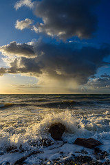 Storm over the sea (SvenSchnitzmeier) Tags: d750 dusk sunset tamron clouds color light nature nikon ocean sea sky vacation germany