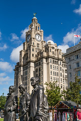 Liverpool August 2016_0111 (Mark Schofield @ JB Schofield) Tags: liverpool england architecture buildings royal liver albert dock river mersey ferry city sunny day bank holiday renovated crowds people street canon 5dmk3