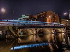 Bristol Bridge at Night (Trigger1980) Tags: bristol bridge water avon d7000 dark nikon nikond7000 night ngc nite national long exposure england west south hdr harbour bus building sky river road blue black