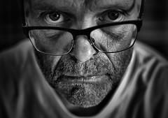 Watching me or Watching you ? (Explored) (CJS*64) Tags: watching portrait people blackwhite bw blackandwhite whiteblack whiteandblack nikon nikkorlens nikkor nikond7000 dslr d7000 35mmlens 35mm18lens cjs64 craigsunter cjs mono monochrome me selfi glasses spectacles face dark shadow shadows