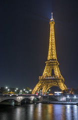 Golden dress (aurlien.leroch) Tags: europe paris france toureiffel eiffel tower night cityscape longexposure nikon d7100 seine bluehour gold goldendress