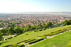 city view from elale Park (Ian Riley [on the right side of the fence]) Tags: asia turky eskiehir elale park city view