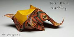 lphant de fte  by Viviane Berty (esli24) Tags: origamielefant origami origamitiere papierfalten vivianeberty juliaschnhuber ilsez