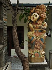 Balinese statue (SM Tham) Tags: asia indonesia bali island candidasa statue pedestal tree outdoors