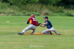 CN-8-21-2148 (Chris Worrall) Tags: 2016 chris chrisworrall competition competitor copyrightchrisworrall dramatic exciting photographychrisworrall power speed action august ball baseball bat batball coldhamscommon guildfordmavericks sport theenglishcraftsman worrall cambridgemonarchs