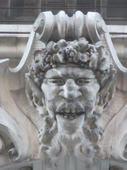 Satyr Gargoyles - The Ansonia Apartment Building 3847 (Brechtbug) Tags: satyr gargoyles the ansonia apartment building now condo upper west side new york city 2109 broadway between 73rd 74th streets built 1899 opened 1904 beaux arts architectural style mansard roof architect paul e m duboy featured 1992 film single white female bridget fonda jennifer jason leigh home pogo cartoonist disney animator walt kelly mobster arnold rothstein athletes jack dempsey babe ruth 8222016 nyc 2016